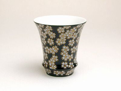 Cherry Blossoms at Night Sake Cup Trumpet Shape