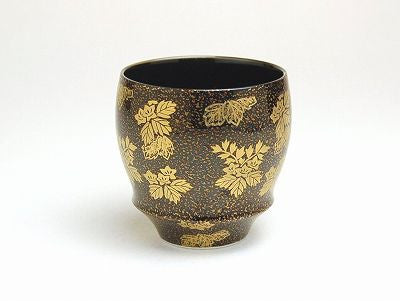 Gold Lacquer Sake Cup Buds Shape