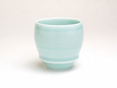 Light Blue Sake Cup Buds Shape