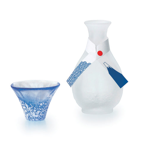Mt. Fuji Cold Sake Glass Single Set