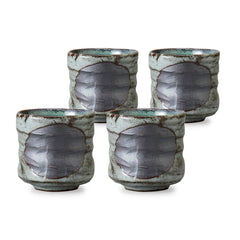 Aoshino Pottery Tea Cup Set of 4