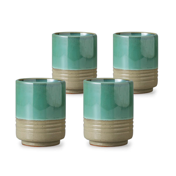 Jade Pottery Tea Cup Set of 4