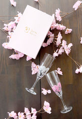 Color Changing Sakura Champagne Glass set of 2