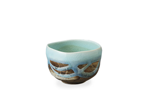 Blue Flow Mino Ware Matcha Bowl