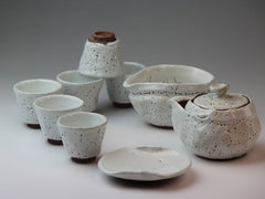 White Glaze Hagi Ware Tea Set by Choun