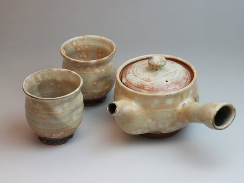 Gohonte Hagi Ware Tea Set by Seigan