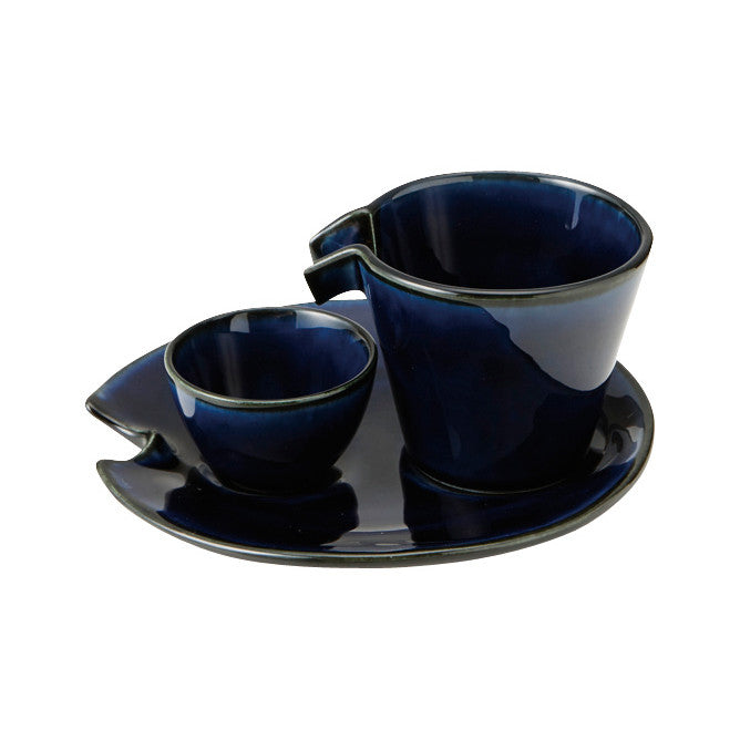 Flowing Sake Set Navy