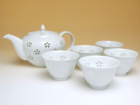 Crystal Flower Arita Porcelain Tea Set