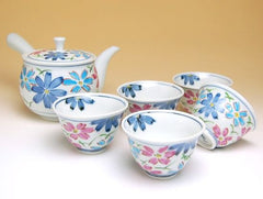 Flower Journey Cosmos Arita Porcelain Tea Set