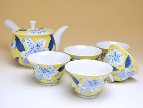 Flower Journey Japanese Lily Arita Porcelain Tea Set