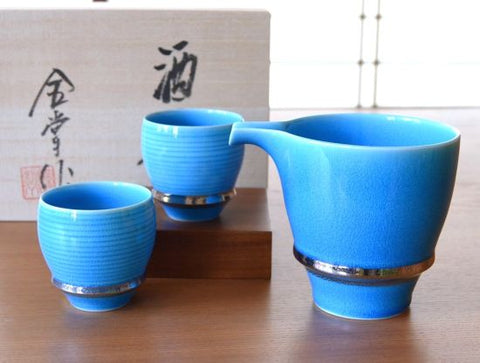 Azure Sake Set Buds Shape