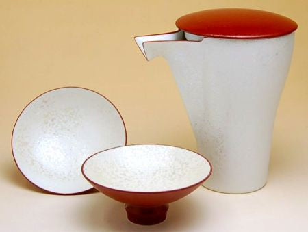 Takumi no Kura Red Pearl Arita Porcelain Sake Set