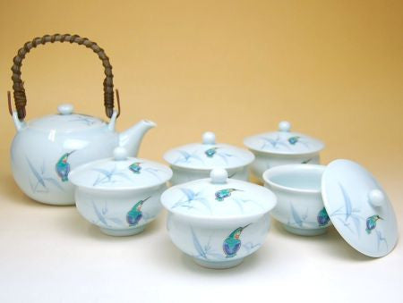 Light Blue Arita Porcelain Tea Set