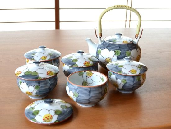 Flowers Arita Porcelain Tea Set