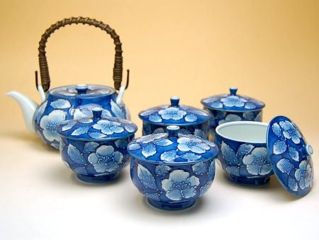 Kyoto Peoney Arita Porcelain Tea Set