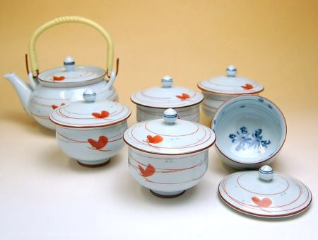 Wild Japanese Chrysanths Arita Porcelain Tea Set
