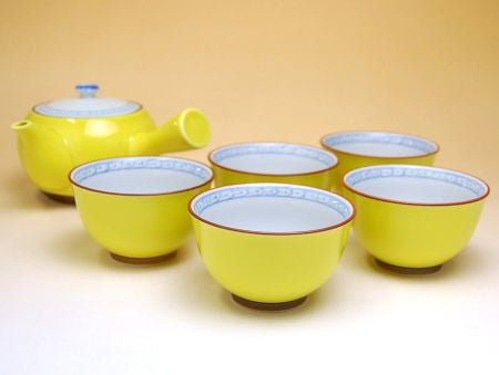 Yellow Arita Porcelain Tea Set