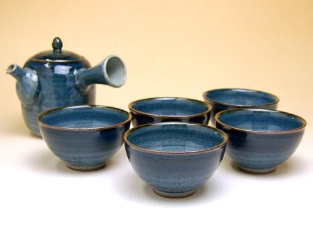 Navy Arita Porcelain Tea Set