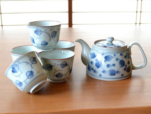 Lotus Arita Porcelain Tea Set