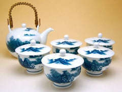 Japanese Landscape Arita Porcelain Tea Set