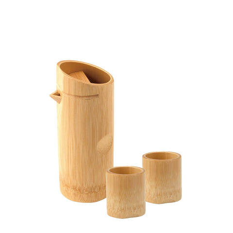 Shiratake Smoked Bamboo Sake Set