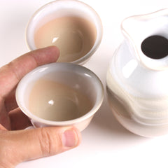 Sunset Hagi Ware Sake Set