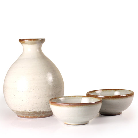 White Arita Porcelain Sake Set