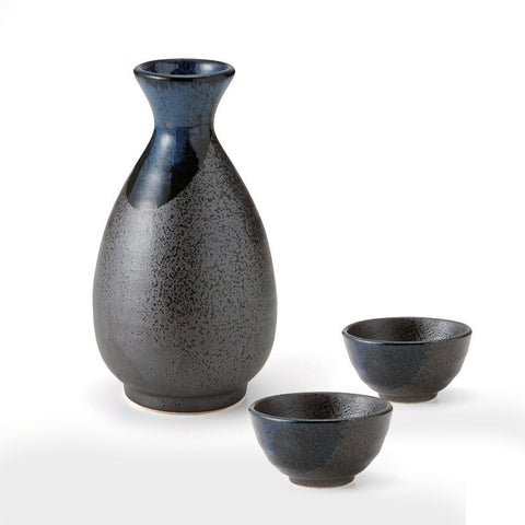 Blue Flow Sake Set