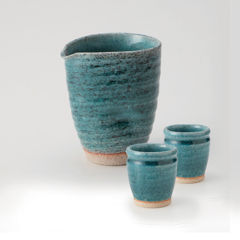 Blue Glase Cold Sake Set