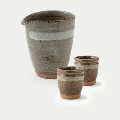 Soil Ash Cold Sake Set