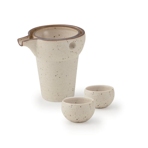 White Iga Yurari Cold Sake Set