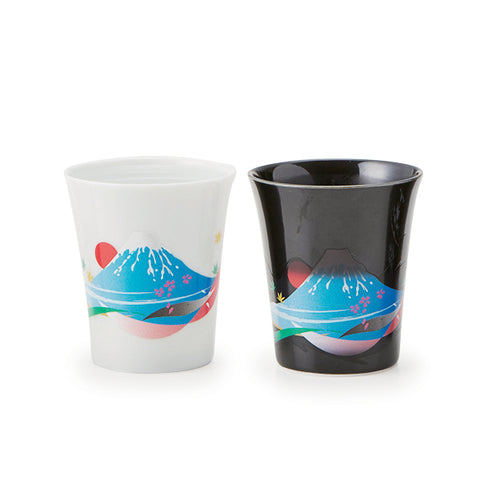 Color Changing Mt. Fuji Sake Cup set of 2