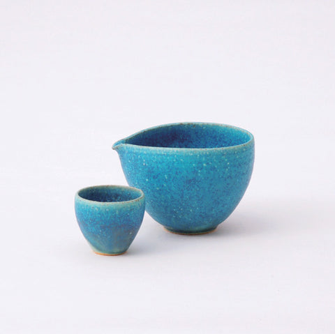 Blue Glaze - Clay of Shigaraki (Earthenware)