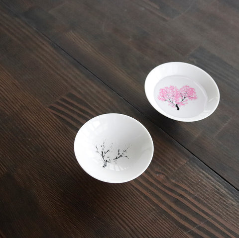 Color Changing Sakura Sake Sakazuki Cup set of 2