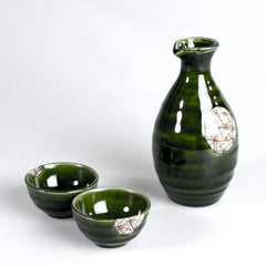 Oribe Lattice Sake Set