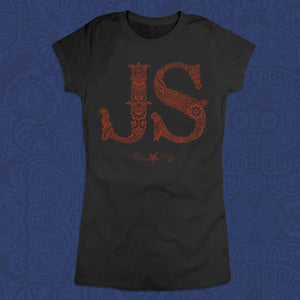 Black Tee With Henna JS