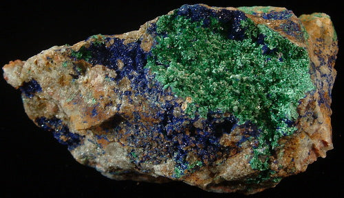 Azurite with Malachite - Tinghir Province, Morocco (MS-2441f)