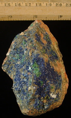 Azurite with Malachite - Tinghir Province, Morocco (MS-2441a)