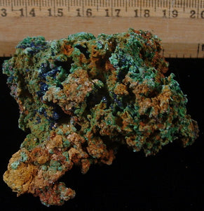 Azurite with Malachite - Tinghir Province, Morocco (MS-2441d)