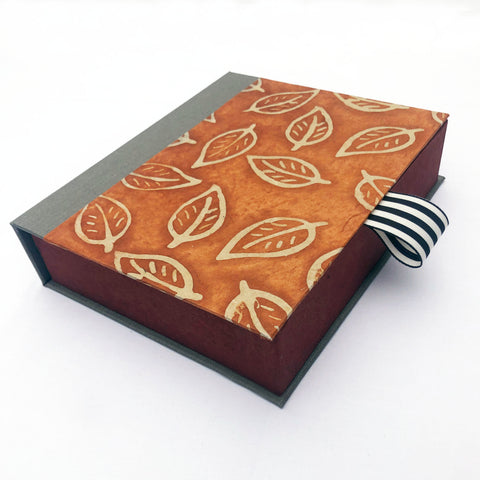 Leaf Pattern Batik Keepsake Box