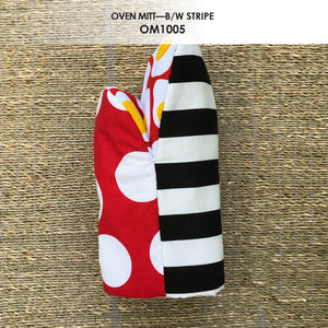 Black & White Stripes Oven Mitt - Shop Matson