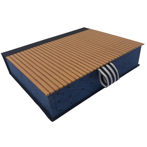 Striped Silkscreened Paper Keepsake Box