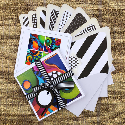 Abstract Note Cards, Set of 8 - Shop Matson