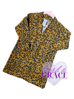 Size 3 Animal Print Brushed Sweater Knit Cardigan