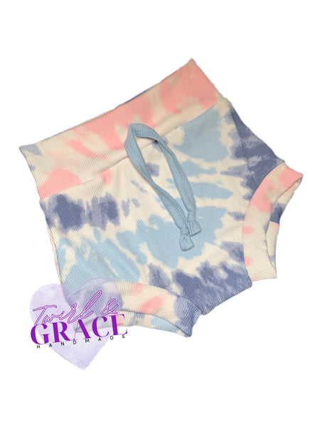 Watercolor Tie Dye Rib Knit Lounge Bummies