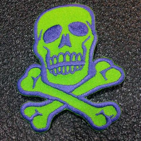 Green/Blue Skull and Crossbones patch