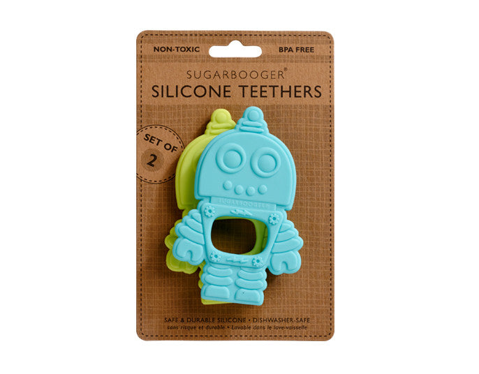Retro Robot Silicone teethers