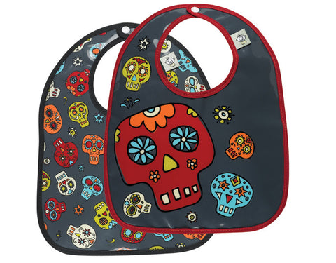Sugar Skull Baby Bib Set
