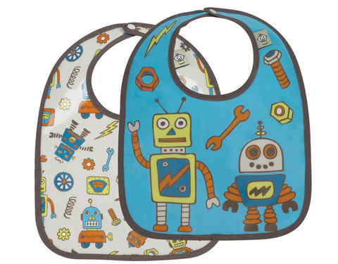 Retro Robot mini bib gift set