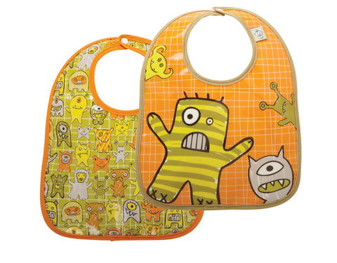 Hungry Monsters Mini Bib Gift Set of 2